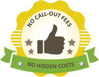 No plumbing call-out fees and no hidden costs